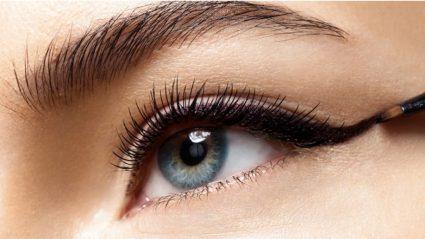 apply fake eyelashes