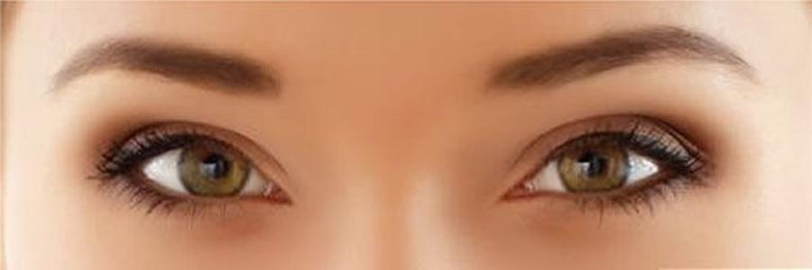 wide set eyes